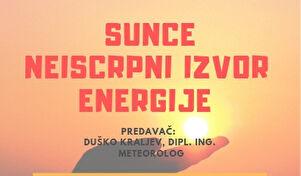 Sunce, neiscrpni izvor energije