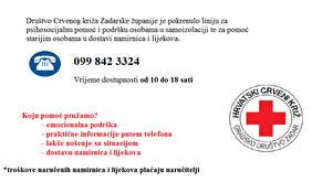 Priopćenje Stožera civilne zaštite Grada Zadra – dežurni telefon Crvenog križa
