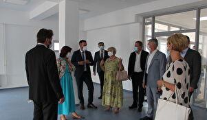 Ministar Aladrović obišao dovršenu zgradu Centra Mocire