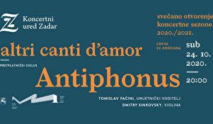 Otvorenja Koncertne sezone 2020/2021 s ansamblom Antiphonus - umjesto ruske zvijezde talijanska