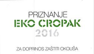 Grad Zadar dobitnik priznanja EKO CROPAK 2016. za doprinos zaštiti okoliša
