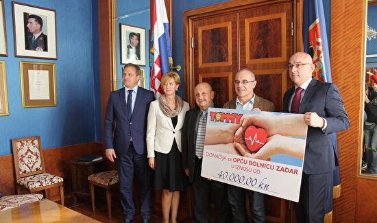 Donacija Općoj bolnici Zadar u vrijednosti 40 tisuća kuna