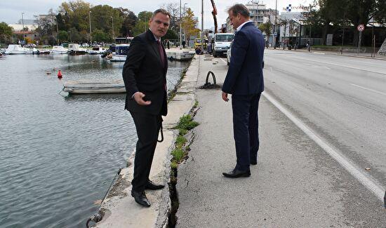 Gradonačelnik Dukić obišao gradilište u uvali Jazine