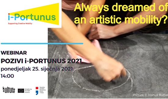 WEBINAR: i-Portunus - mobilnost umjetnika i kulturnih profesionalaca u 2021.