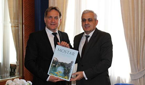 Gradonačelnik Božidar Kalmeta primio gradonačelnika Mostara i načelnika općine Neum