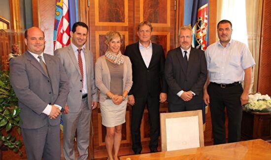 Gradonačelnik Kalmeta primio gradonačelnicu Teresvarosa, Sofiju Hassay