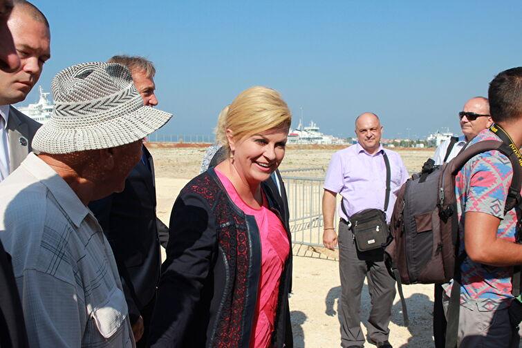 Predsjednica RH položila kamen temeljac za izgradnju zgrade putničkog terminala u Gaženici