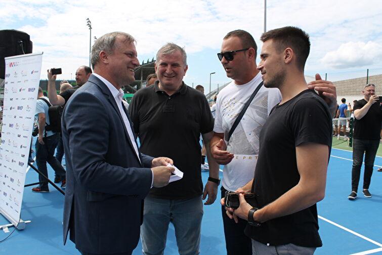 Otvaranje teniskog centra na Višnjiku - Adria tour