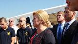 Predsjednica RH Kolinda Grabar Kitarović položila kamen temeljac za novu zgradu putničkog terminala u Gaženici